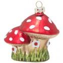 Zestaw 3 bombek Mushroom